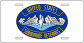 United States Submarine Veterans Auto Tag