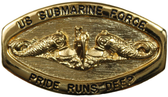 Officers Gold Oval Pride Runs Deep Buckle