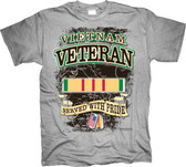 Vietnam Veteran Served with Pride T Shirt