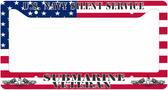 U.S. Navy Silent Service Submarine Veteran License Plate Frame