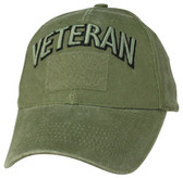 Veteran OD Green Cap with Hook and Loop Front