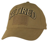 Retired Coyote Brown Cap with Hook and Loop Front
