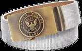 U.S. Navy White Nylon Weave Slide Belt