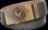U.S. Navy Grey Nylon Weave Slide Belt