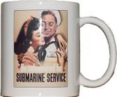 "Famous ""He Volunteered"" Poster Submarine Coffee Mug"