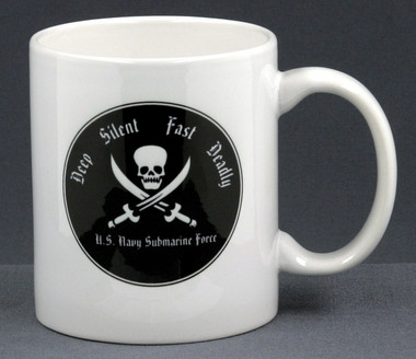 Unique 11 oz. mug with our DSFD submarine design. Without a doubt the most stylish submarine coffee mug in the fleet!