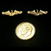 SUBMARINE DOLPHIN LAPEL PINS, 3/4 INCH