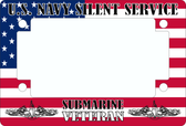 Sub Force Flag Motorcycle License Tag Frame