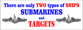 Two Types of Ships Bumper Sticker