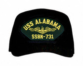 USS Alabama SSBN-731 ( Gold Dolphins ) Submarine Officers Cap