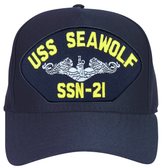 USS Seawolf SSN-21 ( Silver Dolphins ) Custom Embroidered Submarine Enlisted Cap