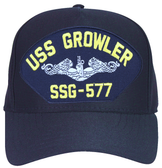USS Growler SSG-577 (Silver Dolphins) Submarine Enlisted Cap
