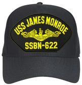 USS James Monroe SSBN-622 (Gold Dolphins) Submarine Officer Cap