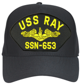 USS Ray SSN-653 (Gold Dolphins) Submarine Officer Cap