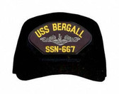 USS Bergall SSN-667 (Silver Dolphins) Submarine Enlisted Cap