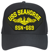 USS Seahorse SSN-669 ( Gold Dolphins ) Custom Embroidered Submarine Officer Cap
