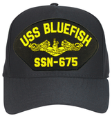 USS Bluefish SSN-675 (Gold Dolphins) Submarine Officers Cap
