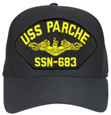 USS Parche SSN-683 ( Gold Dolphins ) Submarine Officer Cap