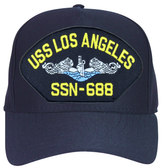 USS Los Angeles SSN-688 Blue Water (Silver Dolphins) Submarine Enlisted Cap