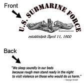 US Submarine Force Est. April 11, 1900 T-Shirt