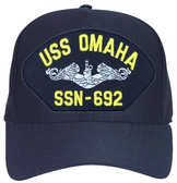 USS Omaha SSN-692 (Silver Dolphins) Submarine Enlisted Cap