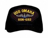 USS Omaha SSN-692 Blue Water (Silver Dolphins) Submarine Enlisted Cap