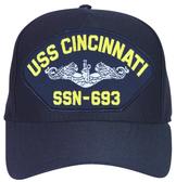 USS Cincinnati SSN-693 (Silver Dolphins) Submarine Enlisted Cap