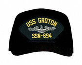 USS Groton SSN-694 ( Silver Dolphins ) Submarine Enlisted Cap