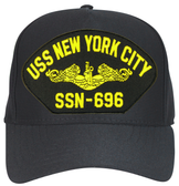USS New York City SSN-696 ( Gold Dolphins ) Submarine Officer Cap