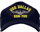 USS Dallas SSN-700 (Silver Dolphins) Submarine Enlisted Cap