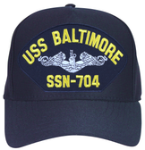 USS Baltimore SSN-704 ( Silver Dolphins ) Submarine Enlisted Cap