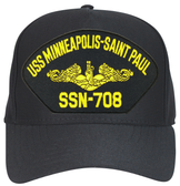 USS Minneapolis - Saint Paul SSN-708 ( Gold Dolphins ) Submarine Officer Cap