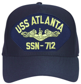 USS Atlanta SSN-712 ( Gold Dolphins ) Submarine Officers Cap