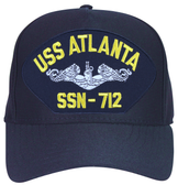 USS Atlanta SSN-712 ( Silver Dolphins ) Submarine Enlisted Custom Embroidered Cap