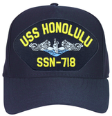 USS Honolulu SSN-718 Blue Water ( Silver Dolphins ) Submarine Enlisted Custom Embroidered Cap