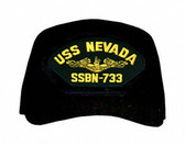 USS Nevada SSBN-733 ( Gold Dolphins ) Submarine Officer Cap