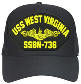 USS West Virginia SSBN-736 ( Gold Dolphins ) Submarine Officer Cap