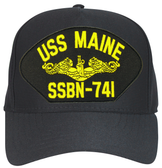 USS Maine SSBN-741 (Gold Dolphins) Submarine Officers Cap