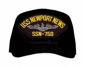 USS Newport News SSN-750 (Silver Dolphins) Submarine Enlisted Cap