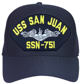 USS San Juan SSN-751 ( Silver Dolphins ) Submarine Enlisted Cap