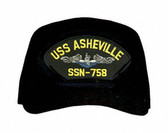 USS Asheville SSN-758 'Blue Water' (Silver Dolphins) Submarine Enlisted Cap