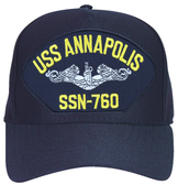 USS Annapolis SSN-760 (Silver Dolphins) Submarine Enlisted Cap