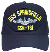 USS Springfield SSN-761 ( Silver Dolphins ) Submarine Enlisted Cap