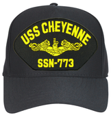 USS Cheyenne SSN-773 (Gold Dolphins) Submarine Officers Cap