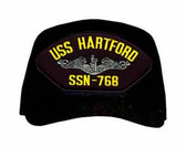 USS Hartford SSN-768 ( Silver Dolphins ) Custom Embroidered Submarine Enlisted Cap