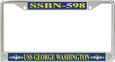 USS George Washington SSBN-598 License Plate Frame