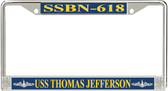 USS Thomas Jefferson SSBN-618 License Plate Frame
