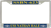 USS Nathan Hale SSBN-623 License Plate Frame