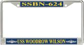 USS Woodrow Wilson SSBN-624 License Plate Frame