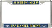 USS Daniel Boone SSBN-629 License Plate Frame